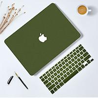 Combo ốp nhựa nhám + phủ phím silicon bảo vệ cho Macbook màu Xanh Rêu tuyệt đẹp