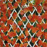 Hoa giả, lá giả, 2 dây lá phong nhân tạo trang trí nhà cửa, hàng rào, ban công, cầu tháng tạo điểm nhấn mới phong cách Bắc Âu (tặng 1 móc dán tường)