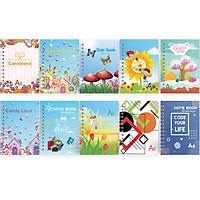 Combo 10 Cuốn Sổ Lò Xo A6 mỏng 100 trang - Giao màu ngẫu nhiên