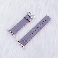 Dây đeo Apple Watch - Woven nylon - XÁM VIỀN HỒNG