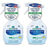 Combo 2 Chai xịt diệt khuẩn Natuearth 410 ml - Chuyên diệt khuẩn cho nhà bếp và da tay - với 100% nguyên liệu thiên nhiên theo công nghệ Nhật Bản