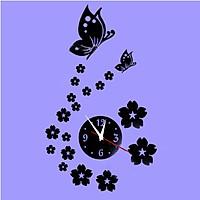 Đồng hồ 3d treo tường bướm