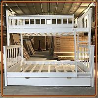 Giường tầng 3 lớp Juno Sofa Màu trắng