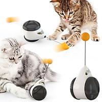 Cat Interactive Toy Cat Ball Toys Tumbler Toys IQ Training Ball Build-in Catnip