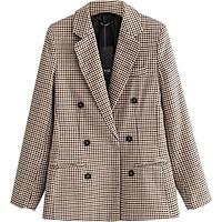 Áo Khoác Cardigan Blazer Chất Lượng Cao Dành Cho Nữ Kẻ Sọc Mỏng Phù Hợp Với Người Đi Làm