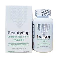 Viên Collagen Beauty Cap bổ sung Vitamin +A E C B5, Collagen Type 1&3 Hộp 120 viên