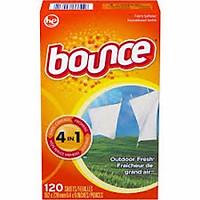Giấy Làm Mềm Vải và thơm quần áo Bounce Outdoor Fresh 120 tờ