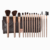 Bộ cọ trang điểm Bh Cosmetics Rose Gold 15 Piece Brush Set With Holder