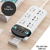 Ổ Cắm Điện Thông Minh Hình Chú Mèo 6 Ổ Cắm 3 USB Dây Điện Dài 180cm Đa Tính Năng Chống Giật Điện Hàng Siêu Cao Cấp, Ổ Điện Chống Cháy Nổ Chịu Được Công Suất Cao
