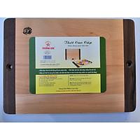 Thớt Gỗ Hình Chữ Nhật Tay Cầm Dài Loại Nhỏ 32.5 Cm ED325 - Đồ Gỗ Nhà Bếp Thương Hiệu Trường Sơn