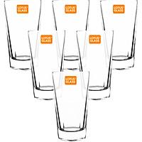 Bộ 6 Cốc Thủy Tinh Lotus Glass VTC 603 Trơn