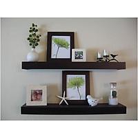 Bộ 2 Kệ gỗ treo tường nội thất cao cấp - Black
