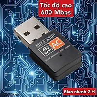 [CÓ SẴN] USB WIFI 5G, tốc độ cao 600Mbps, thu sóng WIFI chuẩn AC cho máy bàn pc laptop