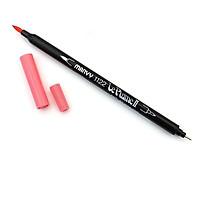 Bút lông hai đầu màu nước Marvy LePlume II 1122 - Brush/ Extra fine tip - Rose Pink (57)