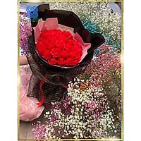 Hoa Hồng Giả Bó Hoa Sáp Đỏ Tươi