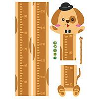 Decal dán tường đo chiều cao cho bé animal 1,7m