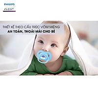 Ty giả Philips Avent ty ngậm giả Núm ti giả ngậm thông khí chỉnh nha Không chứ BPA an toàn cho bé hàng chính hãng Tặng móc khóa xinh xắn thương hiệu Bamboo Life