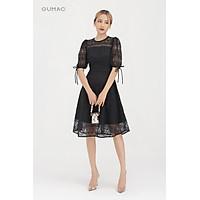 Đầm ren nữ tay đính nơ GUMAC DB859 nhiều màu