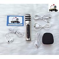 Micro thu âm karaoke live stream C7 loại cao cấp đủ dây kết nối và tai nghe GIAO MÀU NGẪU NHIÊN