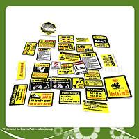 Bộ 5 Tem Cảnh Báo Dán Xe Máy, Sticker Dán Nón Bảo Hiểm Chống Thấm Nước Green Networks Group