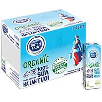 Hộp Sữa Tươi Tiệt Trùng Dutch Lady Cô Gái Hà Lan Organic (1L)