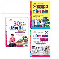 Combo Sách Học Tiếng Hàn: 30 Phút Tự Học Tiếng Hàn Mỗi Ngày + 2500 Câu Giao Tiếp Tiềng Hàn + Tiếng Hàn Dành Cho Nhân Viên Văn Phòng-Tặng Bookmark PĐ