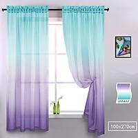 Color Gradient Translucent Window Curtain for Study Living Room Balcony Decor 100x270cm