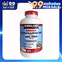 Viên uống Kirkland Glucosamine HCL 1500mg Kirkland With MSM 1500mg Hộp 375 Viên, giảm các cơn đau, hỗ trợ giúp xương chắc khỏe, tăng cường khả năng vận động, cải thiện nhanh các vấn đề về đau nhức
