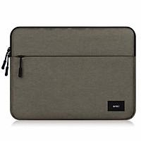 Túi chống sốc cho macbook, laptop, surface 13 inch - Thương hiệu Anki - Xám Vàng