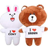 Combo gấu bông Brown và Thỏ trắng cony dễ thương size 35cm