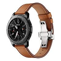 Dây Da Khóa Bạc Chống Gãy Cho Galaxy Watch 46 (Size 22mm)