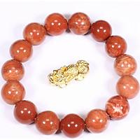 Vòng tay đá san hô đỏ hóa thạch mệnh Hỏa, Thổ - Ngọc Quý Gemstones
