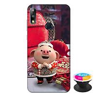 Ốp lưng điện thoại Asus Zenfone Max Pro M2 hình Heo Con Chúc Tết Mẫu 1 tặng kèm giá đỡ điện thoại iCase xinh xắn - Hàng chính hãng