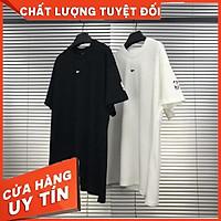 HÀNG CAO CẤP -  Áo thun tay lỡ N i ke in ngực , áo cộc basic nam nữ unisex ,Coc