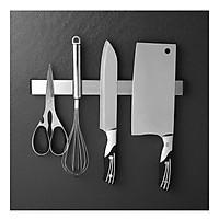 Thanh nam châm inox gắn tường dính dao kéo, dụng cụ để dao kéo, thanh nam châm inox cài dao kéo, thanh nam châm dính tường, nam châm hít từ tính