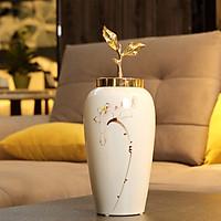 Bình hoa trắng sứ cao cấp ( 37x17cm)