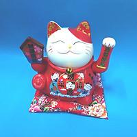 Mèo thần tài bằng sứ xài điện hoặc pin