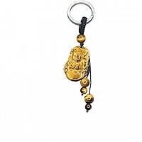 Móc khóa 12 Con Giáp đá Mắt Hổ Vàng tự nhiên - Tuổi Tý | MKTIGYTY01 VietGemstones