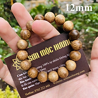 [TẶNG 1 HẠT TRẦM DỰ PHÒNG] Vòng tay trầm hương tốc phong thủy tròn đơn nam 12mm 17 hạt Sơn Mộc Hương mang lại may mắn và thành công