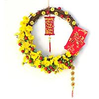 Vòng hoa mai  trang trí tết H05