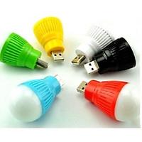 Bóng đèn led tròn mini thắp sáng đọc sách báo cắm cổng USB- GIAO MÀU NGẪU NHIÊN ( Tặng nút kẹp cao su giữ dây điện màu ngẫu nhiên)