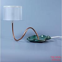 Đèn gốm lá sen Gốm Sứ Bát Tràng trang trí nội thất, đèn để bàn phòng ngủ hàng chính hãng.