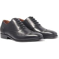 Giày nam buộc dây, phong cách giày tây công sở Wingtip Oxford H1WO1M1 da bò Ý, chính hãng Banuli