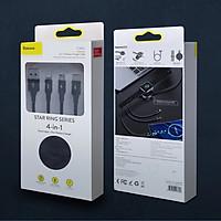 Dây sạc 3 đầu (dành cho iPhone, Micro USB, Type C)  kiêm sạc không dây đồng hồ Apple Watch hiệu Baseus - Hàng chính hãng