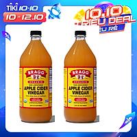 Giấm táo hữu cơ Organic Bragg 946ml (2 chai)
