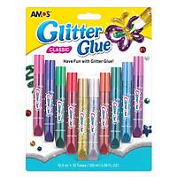 Màu Vẽ Keo Dán Kim Tuyến Glitter Glue AMOS AGG2 (10 Màu)