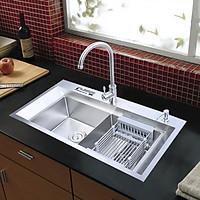 Combo chậu rửa bát vòi rửa bát nóng lạnh RANOX RN4699