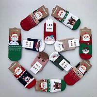 Tất vớ giáng sinh Noel chống trơn trượt cotton cho bé từ 0-5 tuổi
