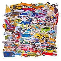 Set 100 Sticker hình dán - Transportation for Kids