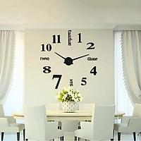 Đồng hồ dán tường tự tạo DIY V.3 - Màu đen